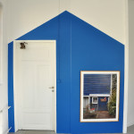 "Installation Blue Barn and photo ""Millett Farm"" by S.O.J."