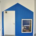 "Installation Blue Barn and photo ""Millett Farm"" by S.O.J."